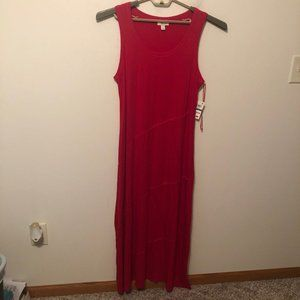 Style & Co Maxi Dress Red Stretchy Soft PL